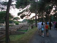 On the left: going to the concert. On the right: Roman ruins